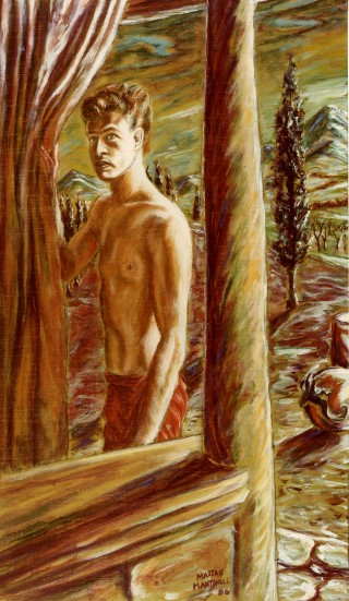 Juan Antonio Mañas - Mixta sobre madera - 1986