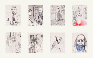 Brigitte Szenczi - Una-historia-de-Barba-Azul-Tinta-acuarela-y-collages-sobre-papel-2013