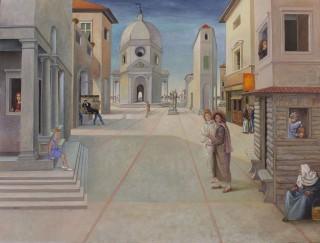 Brigitte Szenczi - La-vocacion-de-la-pintura-116x89cm-Oleo_tela