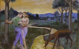 Brigitte Szenczi - -Tango-en-el-paraiso-24x19cm-Oleo-tela-2012