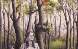 Juan Antonio Mañas - El lenguaje de los pájaros - 12 x 12 cm Óleo sobre papel 2014