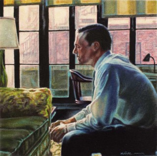 Juan Antonio Mañas - La mira interior - 12 x 12 cm Óleo sobre papel 2014