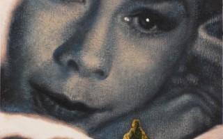 Juan Antonio Mañas - La visitante - 12 x 12 cm Óleo sobre papel 2014