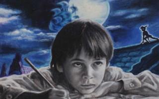 Juan Antonio Mañas - Peter is cominig - 30 x 30 cm Óleo sobre papel 2014