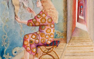 Brigitte Szenczi - Arqueología - 31 x 23 cm Acuarela sobre papel - 2015