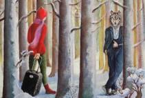 Brigitte Szenczi - Caperucita roja - 22 x 22 cm - Óleo sobre tela - 2015