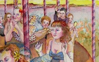 Brigitte Szenczi - Carrusel 12 x 12 cm Acuarela sobre papel 2014
