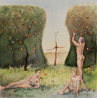 Brigitte Szenczi - Edén - 12 x 12 cm Acuarela sobre papel 2014