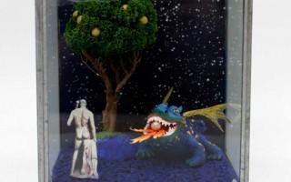 Brigitte Szenczi - El jardín de las Hespérides - 13,5 x 13,5 x 13,5 cm, Escultura 2014