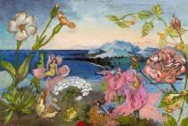 Brigitte Szenczi - La gente pequeña - 105 x 16 cm - Óleo sobre papel - 2015