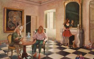Brigitte Szenczi - La habitación del espejo- 100 x 73 cm Óleo sobre tela 2014