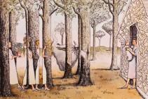 Brigitte Szenczi - Los dones - 31 x 23 cm - Acuarela y tinta sobre papel - 2015