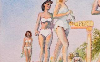 Brigitte Szenczi - Concurso de belleza - 12 x 12 cm Acuarela sobre papel 2014